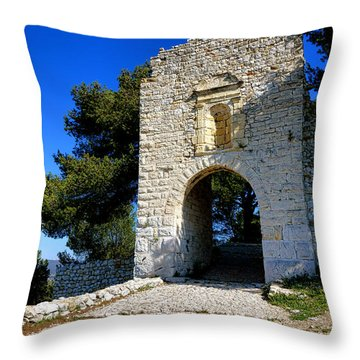 La Poterne In Allauch Throw Pillow by Olivier Le Queinec
