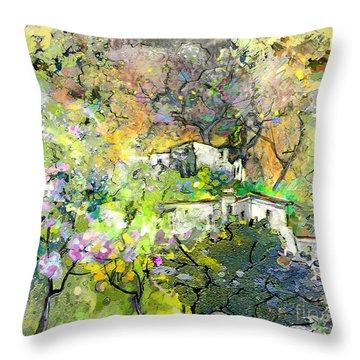 La Provence 07 Throw Pillow by Miki De Goodaboom
