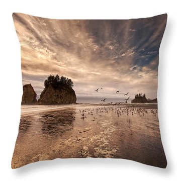 La Push Sunset Throw Pillow