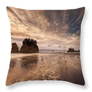 La Push Sunset Throw Pillow by Ian Good