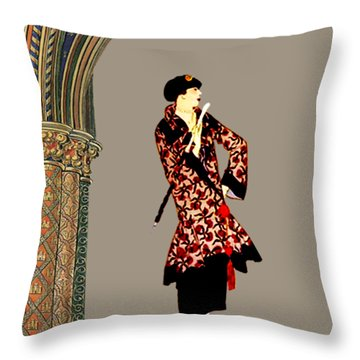 La Robe  Throw Pillow by Asok Mukhopadhyay