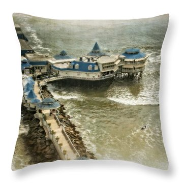 Throw Pillow featuring the photograph La Rosa Nautica - Peru by Mary Machare