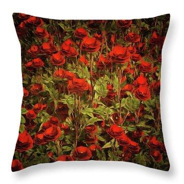 La Sevilliana Roses Throw Pillow