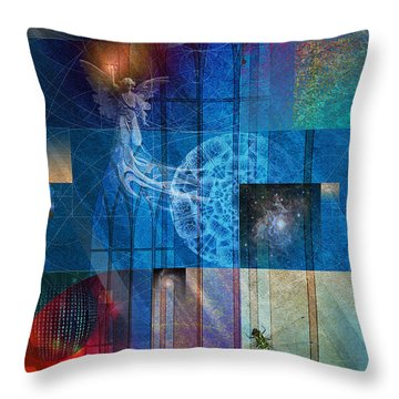 Throw Pillow featuring the digital art La Signatura by Kenneth Armand Johnson