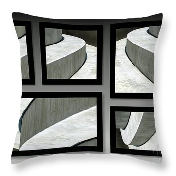 Throw Pillow featuring the photograph La Stairs Collage 01a by Ausra Huntington nee Paulauskaite