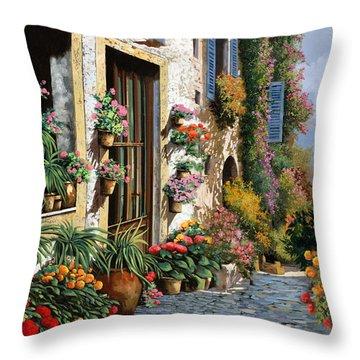 La Strada Del Lago Throw Pillow by Guido Borelli