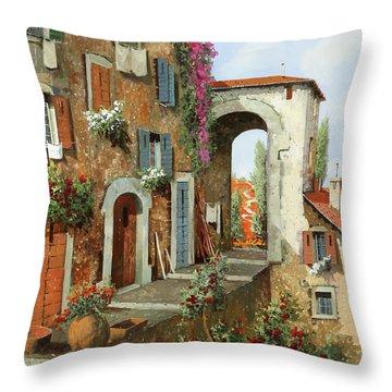 La Stradina Tra I Campi Rossi Throw Pillow