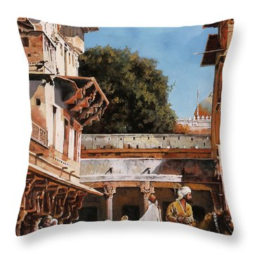 La Torre Bianca Throw Pillow