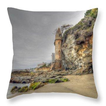 La Tour By The Sea Throw Pillow