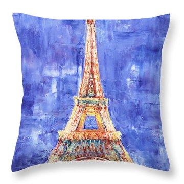 La Tour Eiffel Throw Pillow