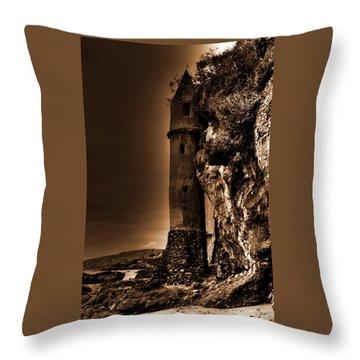 La Tour Upright In Sepia Throw Pillow