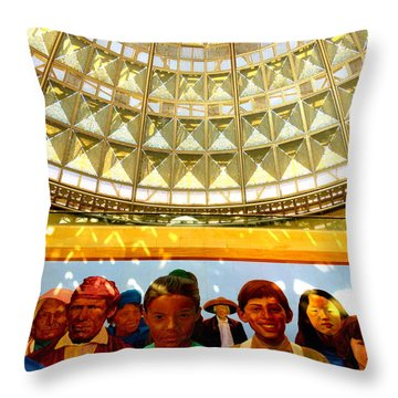 La Union Station Mural Throw Pillow