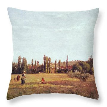 La Varenne De St. Hilaire Throw Pillow by Camille Pissarro