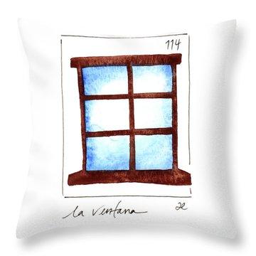 La Ventana Throw Pillow
