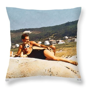 La Vida Dulce,the Sweet Life Throw Pillow by Kenneth De Tore