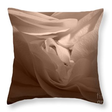 Throw Pillow featuring the photograph La Vie En Rose by Danica Radman