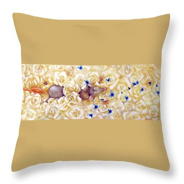 La Vie En Rose Throw Pillow by Dina Dargo