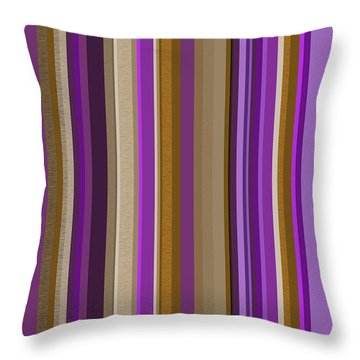 Large Purple Abstract - Two Throw Pillow by Val Arie