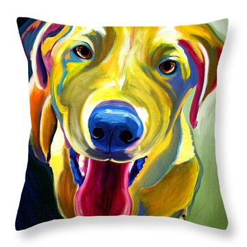 Lab - Spencer Throw Pillow by Alicia VanNoy Call