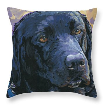 Lab Throw Pillow by Nadi Spencer