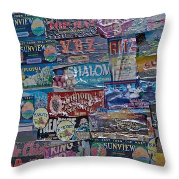 Labels  Throw Pillow
