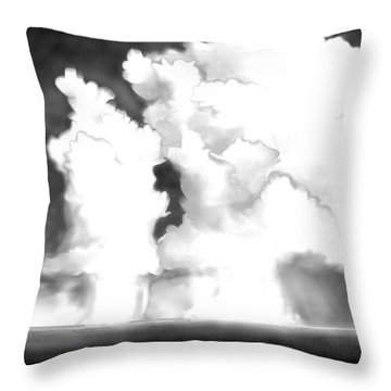 Throw Pillow featuring the digital art Labor Day by Kerry Beverly
