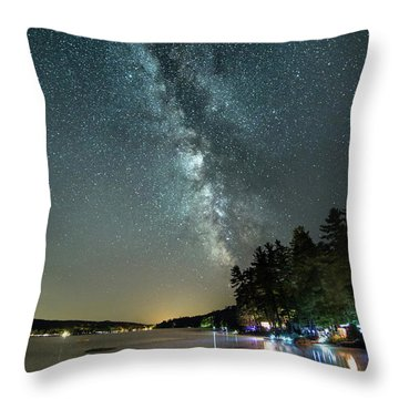 Labor Day Milky Way In Vacationland Throw Pillow