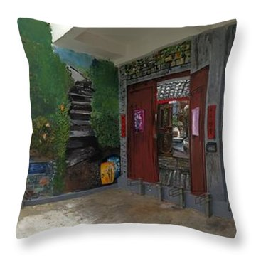 Throw Pillow featuring the painting Labor Of Love II by Belinda Low