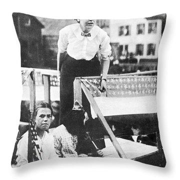 Labor Strike, 1912 Throw Pillow by Granger
