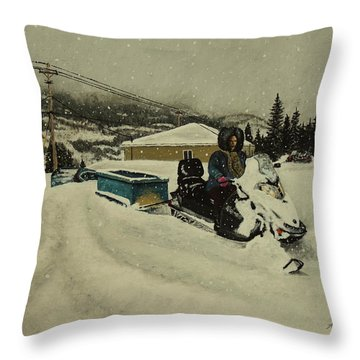Labrador Nurse Throw Pillow