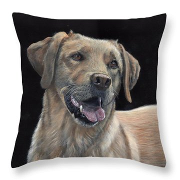 Labrador Portrait Throw Pillow