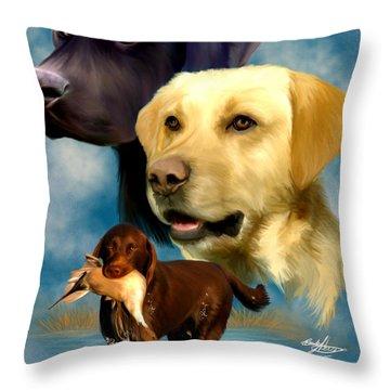 Labrador Retrievers Throw Pillow