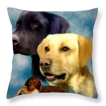 Labrador Retrievers Throw Pillow