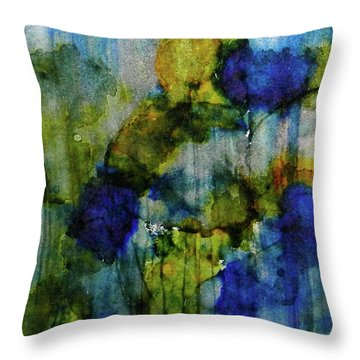 Throw Pillow featuring the painting Labradorite Dreams Ink #9 by Sarajane Helm