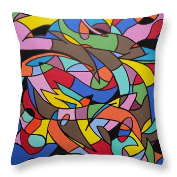 Labrynith Throw Pillow
