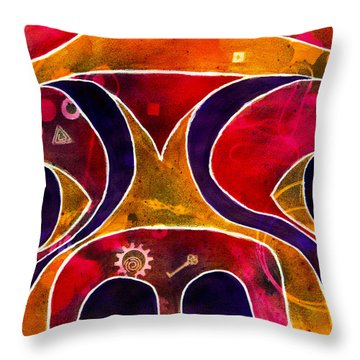 Labstract Throw Pillow by Roger Wedegis