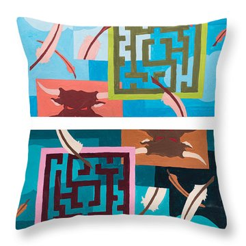 Labyrinth Night And Day Throw Pillow
