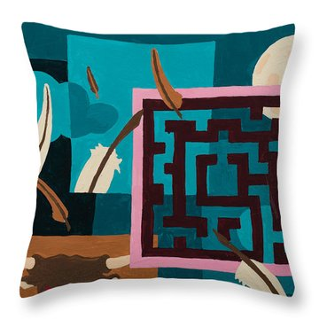 Labyrinth Night Throw Pillow