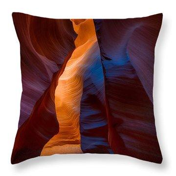 The Corridor Throw Pillow by Scott Warner