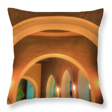 Labyrinthian Arches Throw Pillow