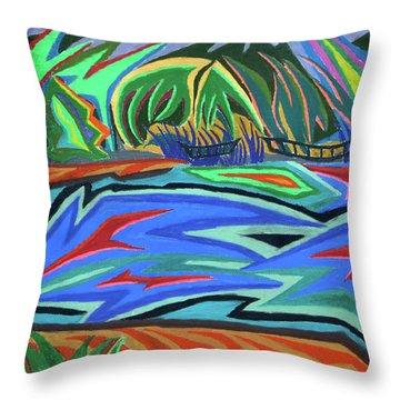 Lac Aura Throw Pillow by Robert SORENSEN