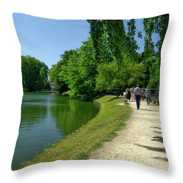 Lac De Genval Throw Pillow