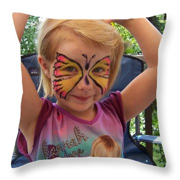Lacey The Butterfly Throw Pillow