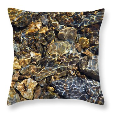 Lacing Of Light Throw Pillow