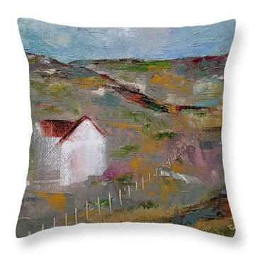 Throw Pillow featuring the painting Lackawanna Capture by Judith Rhue