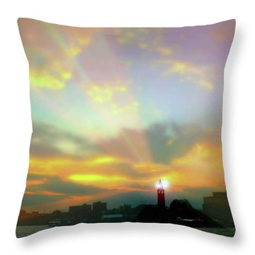 Throw Pillow featuring the photograph Lackawanna Transit Sunset by Diana Angstadt