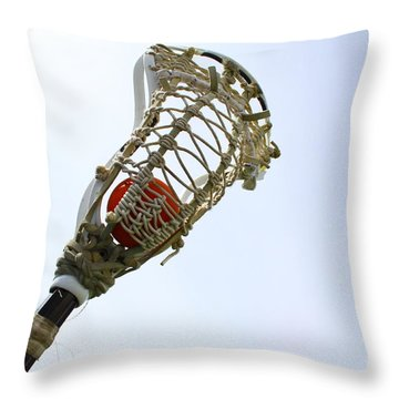 Lacrosse 2 Throw Pillow