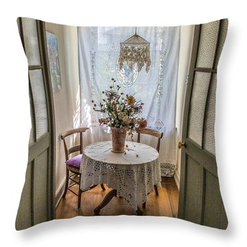 Lacy Alcove Throw Pillow