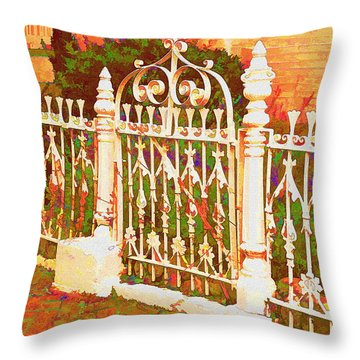 Lacy Garden Gate Throw Pillow