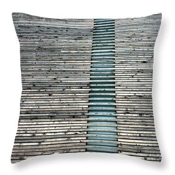 Throw Pillow featuring the photograph Ladder To Zen by David Dunham